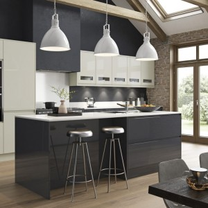 Strada Gloss in Graphite and Porcelain