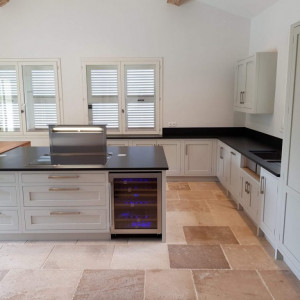 French Oak Kitchen in Light Grey