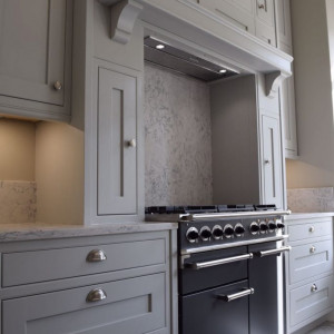 French Oak Kitchen in Soft Grey