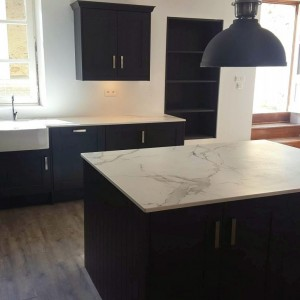 Shaker Kitchen painted in Graphite