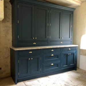 French Oak Painted Marine Blue